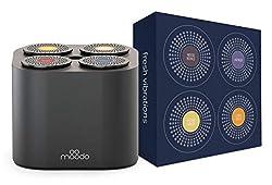 Moodo smarter Duftverteiler für zu Hause, mit wieder aufladbarer Bündelbatterie und einem Satz Duftkapseln - Frische Schwingungen