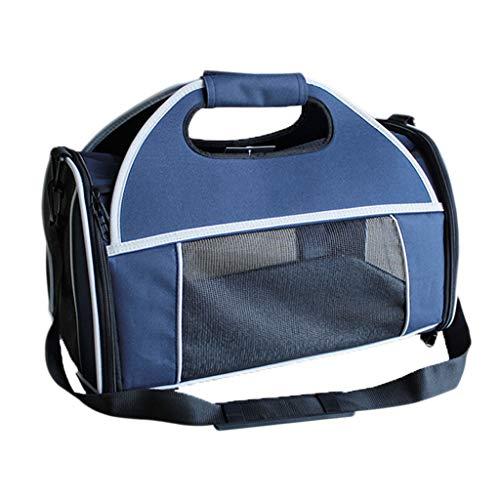 ZH1 Haustier Tasche Pet Travel Carrier , Komfort erweiterbar faltbare Reise Träger für Hunde und Katzen , 46 * 30 * 27cm, - Erweiterbar Aufrecht Tasche