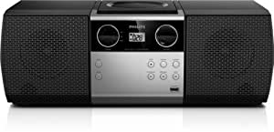 Philips MCM1006/77 Home audio micro system 4W ensemble audio pour la maison - ensembles audio pour la maison (Home audio micro system, 1 disques, Haut, 4 W, 200 W, FM)