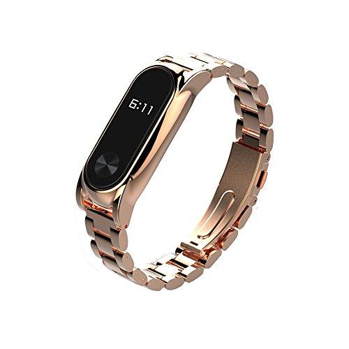 Preisvergleich Produktbild Ersatzband für Xiaomi Mi Band 2, iHee 2017 Nue Mijoas Edelstahl Luxus Handgelenk Armband Metall Wristband Für Xiaomi Mi Band 2