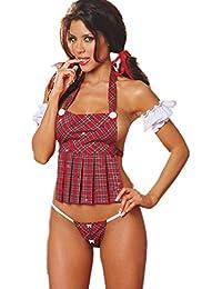 8d8d56c565527a Shawa Damen Lingerie Erotische Nachthemd Negligee Babydolls Pyjama Dessous  Set Kleid Sexy Schulmädchen Schürze Studenten Kostüm