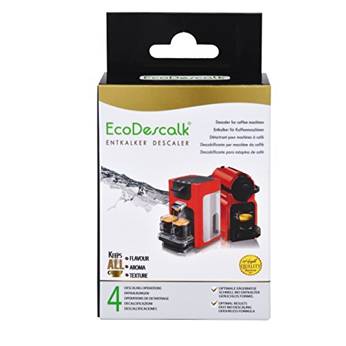 EcoDescalk, 4 Beutel. Entkalker-Pulver für alle Kaffeemaschinen & Kaffeevollautomaten der Marken...