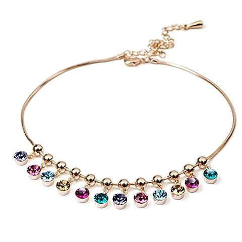 Ladies Cristal Bracelet de cheville tempérament/ bracelet de cheville mode coréenne arc-en-ciel-A