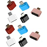 Tfpro Special Design Cute Little Mini Micro Usb Otg Adapter ( Colors May Vary - Pack Of 10 Pcs ) Converter For Android Phones Tablets Mp3 Mp4 Smart Device