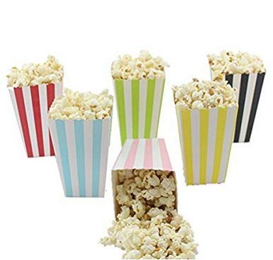 LCsndice 12 Teile/Satz Regenbogen Einhorn Popcorn Box Dekoration Kindertag