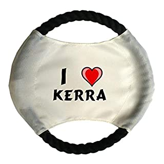 Personalised dog frisbee with name: Kerra (first name/surname/nickname)