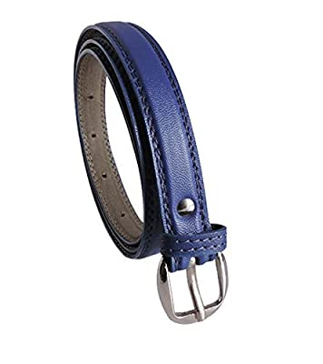 Krystle Prime Girl's Combo Set Of 2 PU leather belts Blue & White)-B0799GKL62