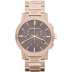 BURBERRY BU9353 - Reloj de pulsera hombre, acero inoxidable, color dorado