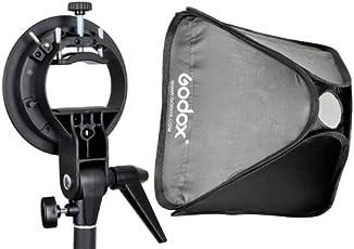 Godox SEUV6060 Soft Box with S Type Bracket Elinchrom Mount Holder and Storage Bag for Canon Nikon Sony Pentax Flash (Black)