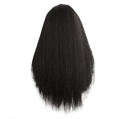 GreatFun26 Zoll Perücke Schwarz Cosplay Perücke Brasilianische Lange Gerade Bob Stil Haar Lace Front Perücken Frauen Mode Täglichen Haar (Rabatt Perücken Halloween)