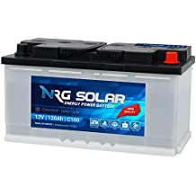 NRG SOLAR 120Ah 12V Wohnmobil Antrieb Versorgung Boot Schiff Solar Batterie