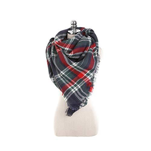Erqingpj sciarpa invernale sciarpe a scialle calde di alta qualità a forma di triangolo colorato in tartan sciarpe a scialle calde invernali