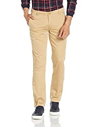 John Players Mens Slim Fit Chinos (8907482034993_JCMWTRS170021004_32W x 36L_Beige)