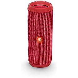 JBL Flip 4 - Enceinte Bluetooth portable robuste - Étanche IPX7 pour piscine & plage - Autonomie 12 hrs - Qualité audio JBL - Rouge