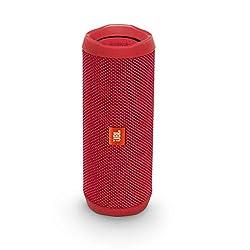 JBL Flip 4 Bluetooth-Lautsprecher Box (Wasserdichter, tragbarer Lautsprecher mit Freisprechfunktion und Sprachassistent, bis zu 12 Stunden Wireless Streaming mit einer Akku-Ladung) rot