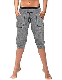 Gwinner pantalons de sport pour femmes pantalons de fitness 3/4 ajustement innovant, idéal très confortable pour l'entraînement de fitness, aérobic, exercices de danse Modèle: Marina Climaline