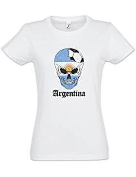 Urban Backwoods Argentina Football Skull I Mujer Girlie Women T-Shirt Tamaños XS – 2XL