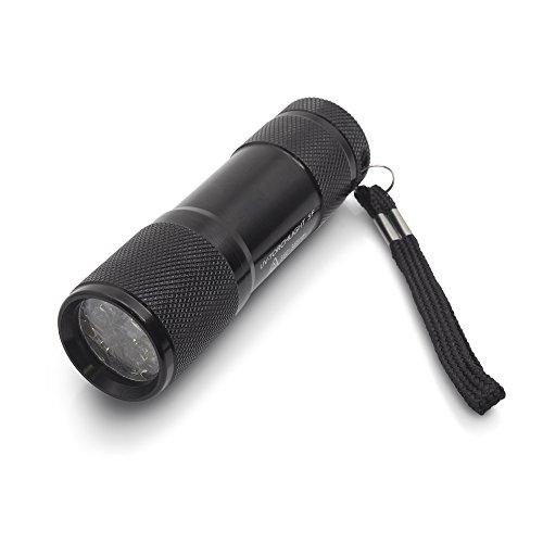 TROTEC UV-Torchlight 5F - Ultraviolett LED UV Taschenlampe mit 9 LEDs 385nm, UV-Strahler, Handlampe, Prüfgerät, Fleckendetektor / Urindetektor...
