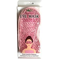 NT Aqua Peas Eye Mask - Reusable Eye Mask - Plush Lined for Sleeping Gel Beads For Hot or Cold Relief (Pink)
