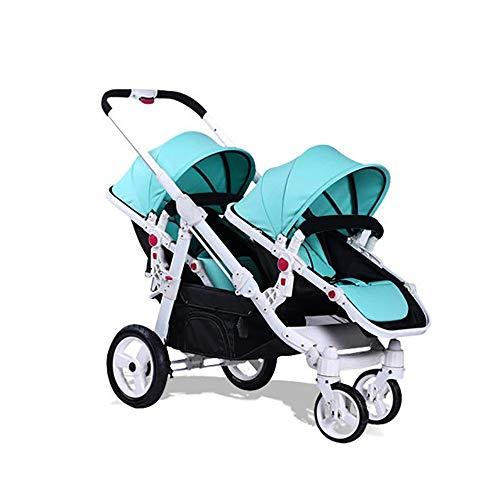 Doppelbabywagen Kann Sitzen Und Sich Hinlegen Falten Zweites Kind Doppel Baby Trolley Multifunktions Schatten