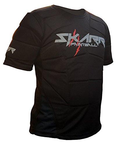 """Chaleco Acolchado para Paintball y Airsoft Body Armour de Skar en Color Negro, Protector para Debajo del Chaleco de CKSN, Color Negro, tamaño Large 40\""""- 42\"""" Chest"""