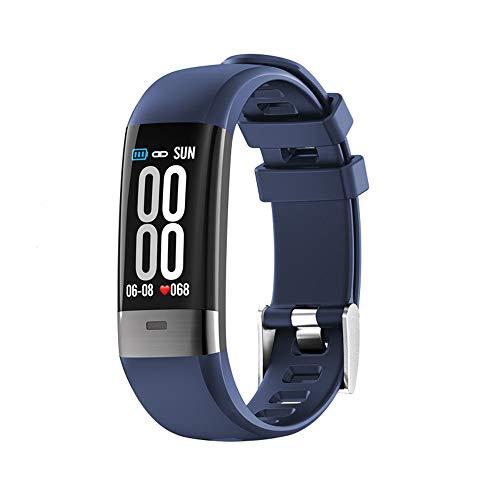 jay-long braccialetto sportivo intelligente, monitoraggio ecg + ppg, modalità multi-sport, orologio impermeabile ip68, promemoria intelligente, messaggio push, rapporto hrv,blue