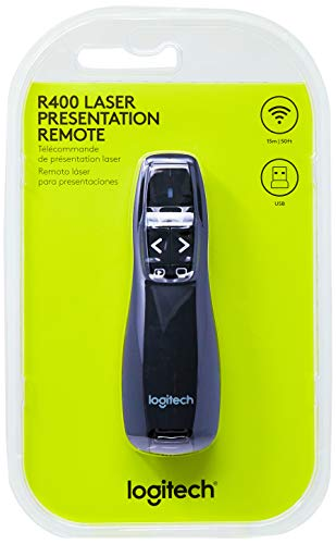 Logitech Wireless Presenter R400 Ohrstöpsel 5 Centimeters Schwarz (Black) (Logitech Remote Control Wireless)