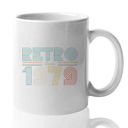 Retro Vibes Coffee Mug - Retro Since 1979 - Vintage Old Fashioned Unique Creative Gift For Dad Mom Brother Sister Father's Day Mother's Day 11 Oz - Brothers Old Fashioned