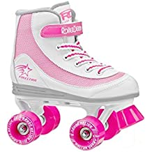 Roller Derby - Patines quad FireStar V2.0 color blanco y rosa
