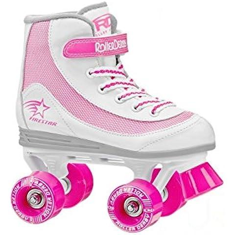Roller Derby FireStar V2.0 White Pink Quad Skates
