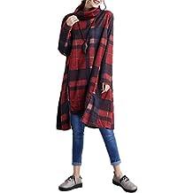 Landove Pullover Vestito Donna Invernale Casual Felpa Manica Lunga Ragazza  Vestiti Linea A Swing Abito Taglie d51383384a5