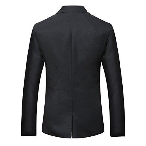 Uomo con risvolto center-vent One-Button Blazer Black-2