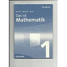 Das ist Mathematik.  1