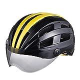 Casco Da Ciclismo Maschera Esplosiva Casco Da Bicicletta Sport Da Corsa Casco Da Esterno Casco Per Auto Elettrica Personalizzato, Nero E Giallo