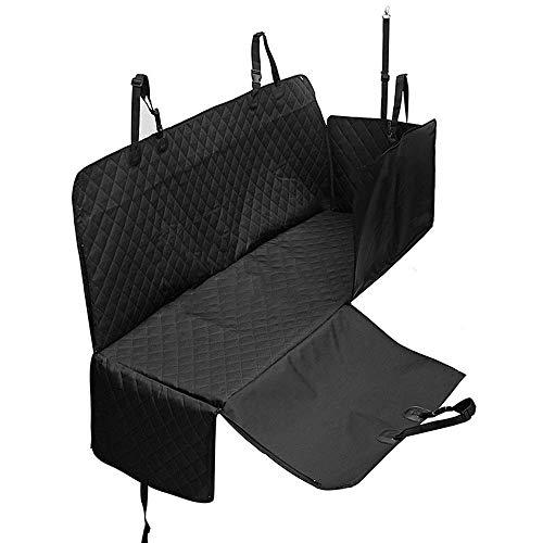 Wishdeal Luxus-Auto-Schutzabdeckung für Hunde, Rutschfest, mit Reißverschluss, für den Autositz, für den Außenbereich, Schwarz -