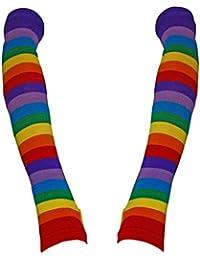 Armstulpen mit Regenbogen Streifen