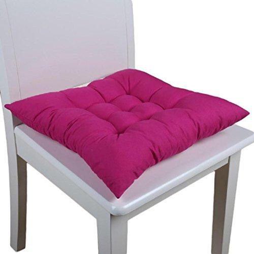 Ouneed Sitzkissen Stuhlkissen , Soft Home Office Square Cotton Sitzkissen Gesäss Stuhl Kissen Auflagen (Hot Pink)