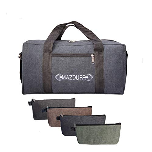 Werkzeugtasche aus Segeltuch, strapazierfähig, inklusive 4 große Werkzeugtaschen mit Reißverschluss, Jumbo-Werkzeugtasche, 45,7 cm, schwarz -