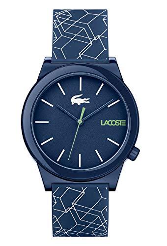 Lacoste Herren Analog Uhr Motion mit Silikon Armband