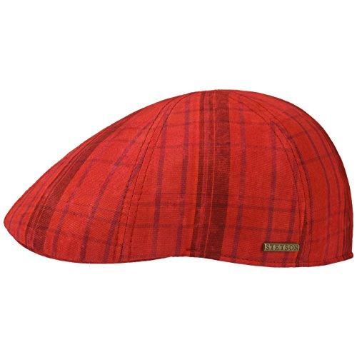 gorra-texas-cotton-checked-by-stetson-gorra-de-algodongorra-l-58-59-rojo