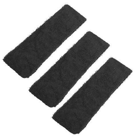 SODIAL(R) 3 Pcs Noir Salle de bains Spa Bandeau elastique bande de cheveux pour dames