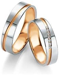 Breuning Trauringe Design DR052010/HR052020 - Platin/Rotgold