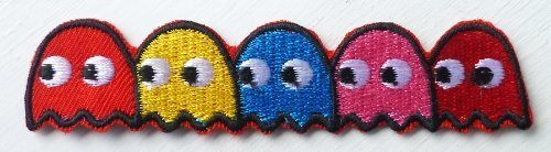 pacman-5-ghosts-blinky-pinky-inky-clyde-yum-yum-iron-on-sew-on-embroidered-badge-applique-motif-patc