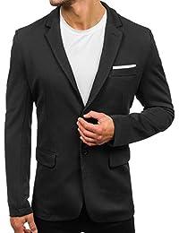 BOLF Hombre Americana Chaqueta de Traje Casual Slim Fit 4D4