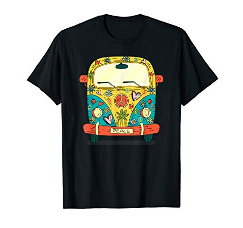 Bulli Camping Bus Modell Cartoon T-Shirt Damen Herren Kinder