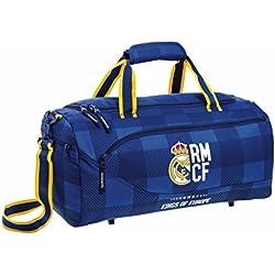 "Real Madrid Bolsa de Deporte y Viaje, 50 x 25 x 25 cm, 40 Litros ""Blue"""