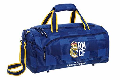 Real Madrid Bolsa de Deporte y Viaje, 50 x 25 x 25 cm, 40 Litros Blue