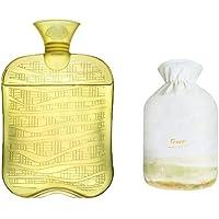 1800ML Klassisch PVC Kalt oder Heiße Wasserflasche mit weichem Plüschbezug, 08 preisvergleich bei billige-tabletten.eu