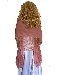 125cmX190cm Einfarbiger Schal Stola aus Baumwolle und hochwertiger Spitze, mehrere Farben zur Wahl