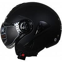 GY Motocicleta Coche Eléctrico Harley Casco Casco de Casco de Lente Doble Medio Casco de Seguridad